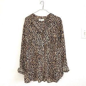 Jones New York leopard animal print top size 3X